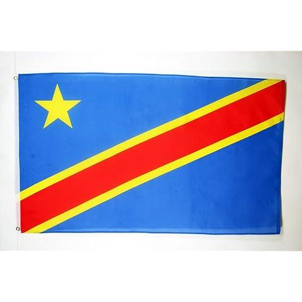 AZ FLAG Bandera de la REPÚBLICA DEMOCRÁTICA del Congo 150x90cm ...