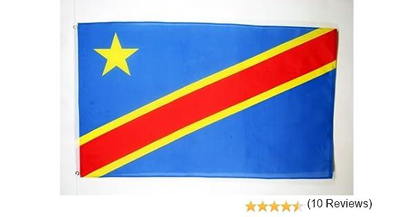BANDERA de la REPÚBLICA DEMOCRÁTICA DEL CONGO 150x90cm BANDERA CONGOLEÑA 90 x