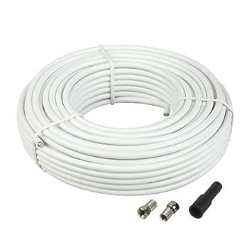 Schwaiger FLS720012 - Cable coaxial (20 metros), blanco