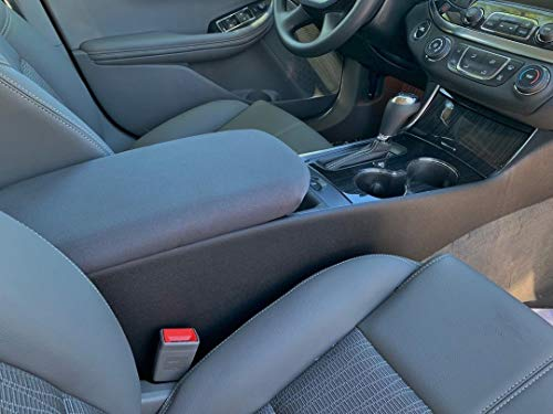 Auto Console Covers- Compatible with The Chevy Impala 2014-2019 Center Console Armrest Cover Waterproof Neoprene Fabric - Gray (Chevy Impala Center Console)