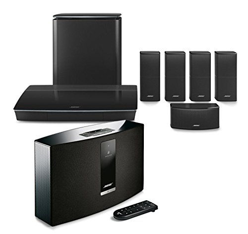 Bose Lifestyle 600 Home Entertainment System, Black, with SoundTouch 20 Series III Wireless Bluetooth Speaker, Black by Bose