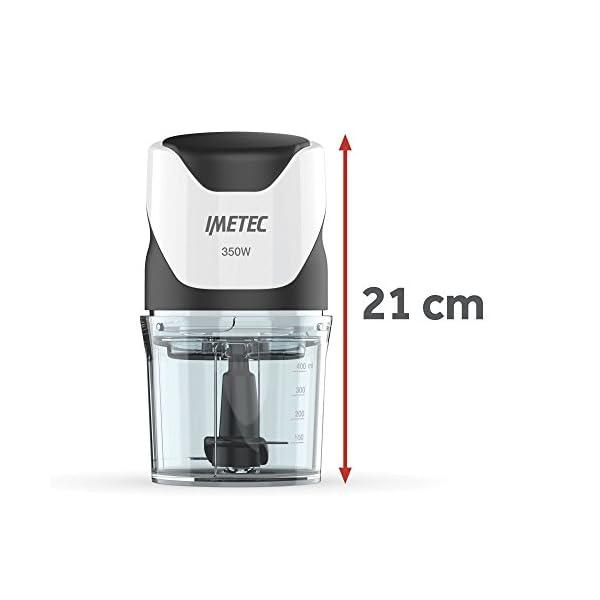 Imetec CH 500 Tritatutto, Lame in Acciaio Inox, Contenitore 400 ml, Funzionamento a Pressione, Compatto, 350 W, Nero 5