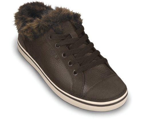 crocs - Zapatillas de deporte de cuero para mujer Marrón