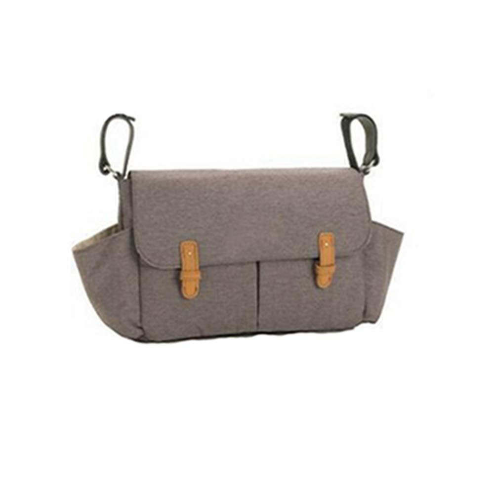 QIQI Mummy Bag, Waterproof Shoulder Bag, Baby Out Cart, Stroller Bag,Gray