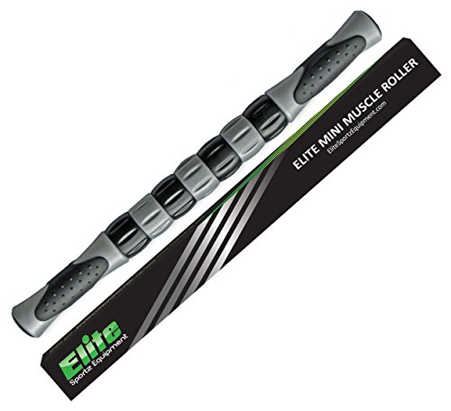 Elite Massage Roller Stick Targets Sore, Tight Leg Muscles to Prevent Cramps and Release Tension. It