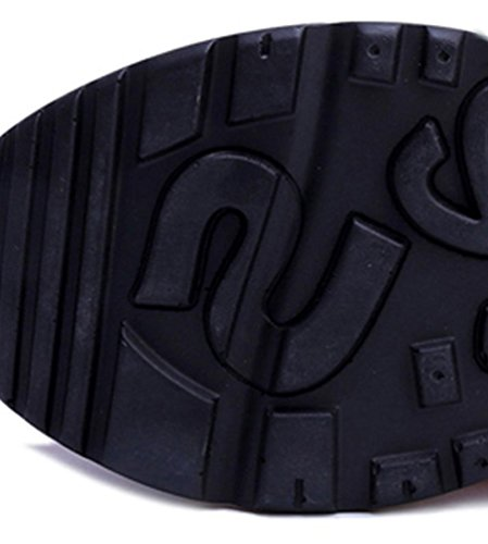 Fcostume sneakers zeppe Fashion sport scarpe spessore Nero fondo da running escursionismo casual wxXSUAx