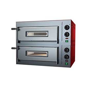 Eléctrico horno para pizza pizzería bar 1+1 pizzas RS3652: Amazon ...