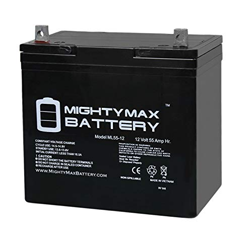 Mighty Max Battery 12V 55Ah Power Boat Pontoon Electric Trolling Motor Deep Cycle Battery Brand Product (Minn Kota Trolling Motor Battery)