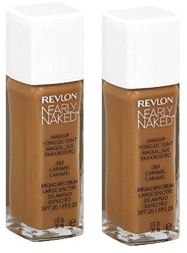 "2 Pack Revlon Nearly Naked Makeup Foundation - #260 ""Caramel"""