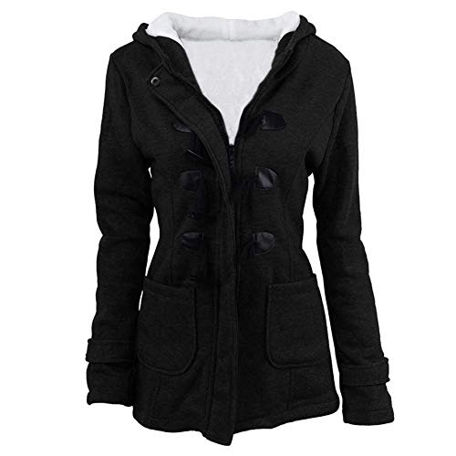 women hooded pea coat - 4