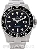 Rolex Mens Stainless Steel Gmt II Black Dial, Watch Central