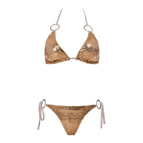 Estate Donne Up Beachwear Imbottito Set Spiaggia Spiaggia Elecenty Oro Da Costume Swimwear Push Set Bikini Reggiseno 4qwp6