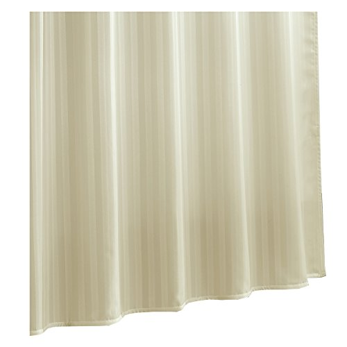 Ex-Cell Damask Stripe Fabric Shower Curtain Liner, Champagne