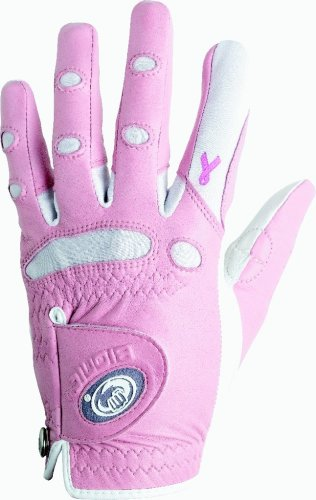 Bionic Women's Classic Breast Cancer Awareness Pink Golf Glove, Medium