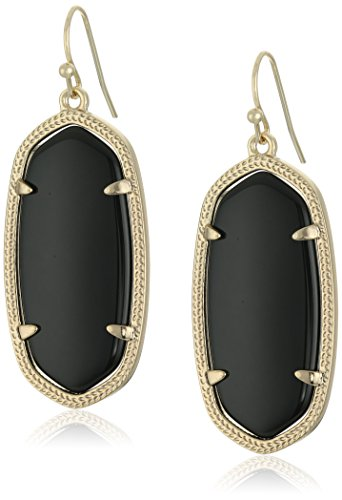 - Kendra Scott Women's Elle Earring Black Onyx Earring