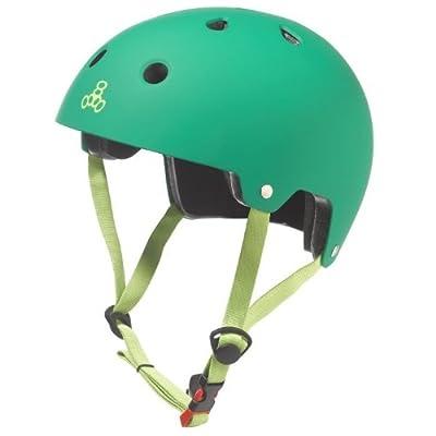 Triple Eight Certified Rubber Helmet (Kelly Green, Large/X-Large) by Triple Eight
