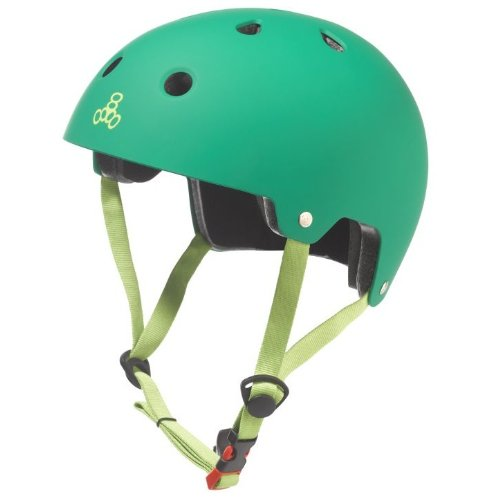 Triple Eight 3026 Dual Certified Helmet, X-Small/Small, Kelly Green Rubber (Extra Helmet Small)