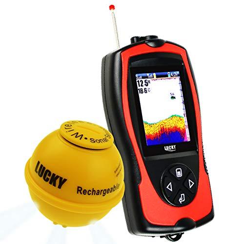Lucky Wireless Sonar Fish Finder Light Lure Sensor Fishfinder Sea Fishing 45m Depth 100m Operational Range