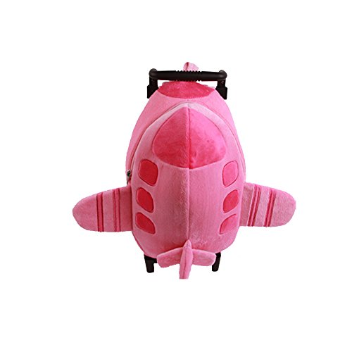 YUB Lovely Children School Bags with Wheels Backpack in Kindergarten Trolley Bag Toy Airplane, ()