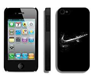 Nike Just do it 33 Black High Quality Plastic iPhone 4s Phone Case