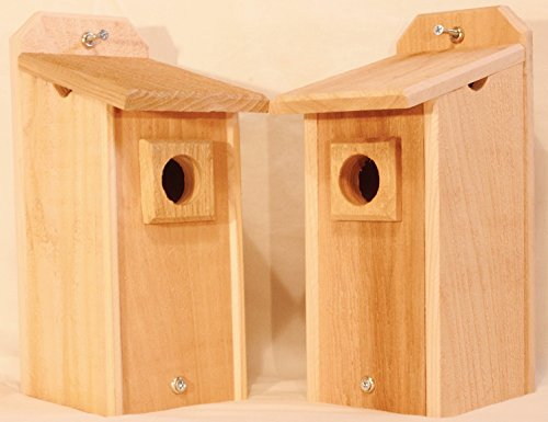 2 Cedar Bluebird Houses, Bird House