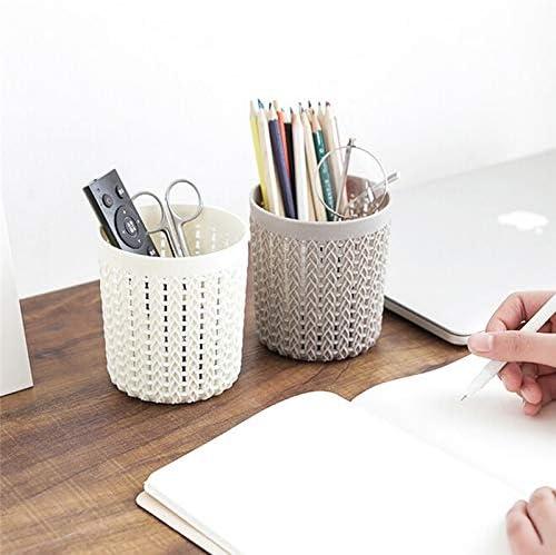 Schreibwarenbox, Speicherrohre Kreative einfachen Lagerbehälter Hohlmultifunktionsaufbewahrungsbehälter Organisator Kunststoff Büro Speicherrohr