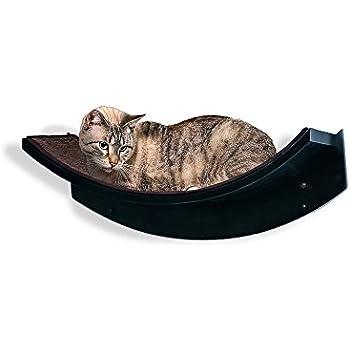The Refined Feline Lotus Leaf Cat Shelf, Espresso