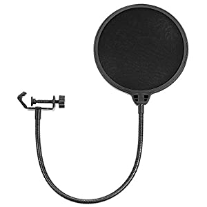 Neewer Professional Microphone Pop Filter Shield Compatible with Blue Yeti and Any Other Microphone, Dual Layered Wind…