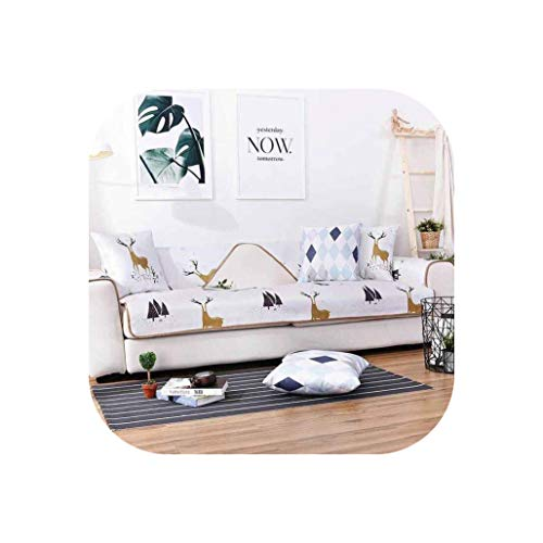 1Pc Summer Ice Silk Mat Sofa Cover Dirt-Proof Sofa Protect Pet Dog Cushion Mat Slipcover Sofa Covers for Living Room Cover Sofa,White,70-150Cm 1Pc