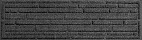 Aqua Shield Broken Brick Stair Treads, 8.5 by 30-Inch, Charcoal, Set of 4 (Flooring Brick Patio)