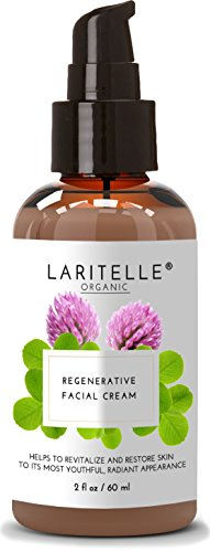 Laritelle Organic Regenerative Face Cream 2 oz | Anti-Wrinkle Moisturizer to Restore Skin to Its Most Youthful, Radiant Appearance | NO GMO, Synthetic Fragrances, Phthalates, Sulfates, Parabens. GF Anti Wrinkle Regenerative Cream