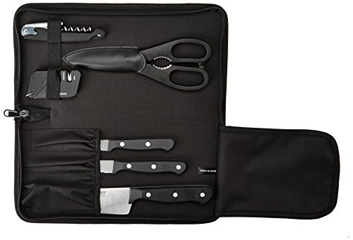 WÜSTHOF Gourmet Seven Piece Traveler Knife Set | 7-Piece German Knife Set with Traveler Case | Precise Laser Cut High Carbon Stainless Steel Kitchen Knife Set - Model 8957 ()