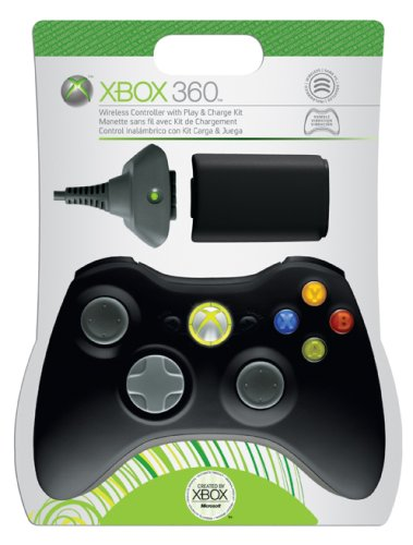 Xbox 360 Play & Charge Kit with Black Controller