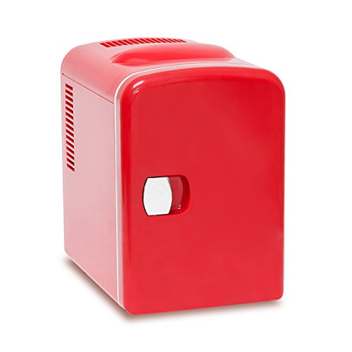 Relaxdays Mini Kühlschrank ca. 4 l HBT ca. 28 x 18 x 25 cm Kühlbox 12 V, rot