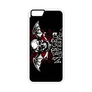 Protection Cover Qyckg iPhone 6 Plus 5.5 Inch White Phone Case Avenged Sevenfold Personalized Durable Cases