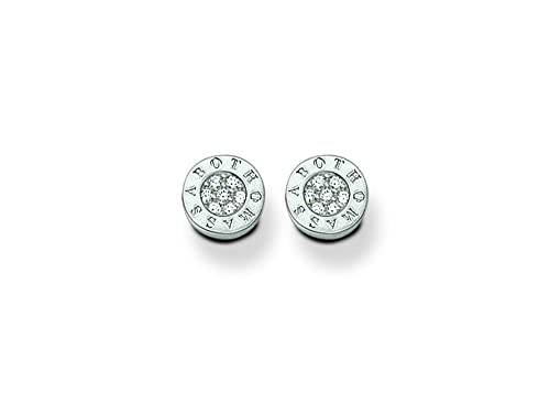 8cb607832 Image Unavailable. Image not available for. Colour: Thomas Sabo Women's  Silver Zirconia Ear Studs SCH150022