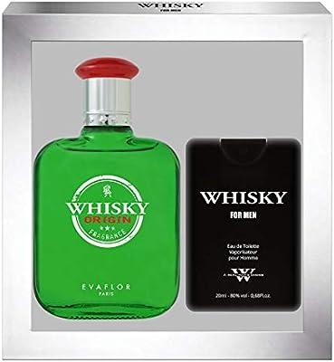 EvaflorParis Whisky Origin - Estuche regalo de colonia (100 ml, perfume de viaje vaporizador para hombre de 20 ml): Amazon.es: Belleza