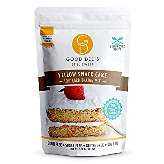 Good Dee's Yellow Snack Cake Mix- Low carb, Sugar free, gluten free, grain free, Atkins friendly, Diabetic friendly, WW friendly, 12 servings