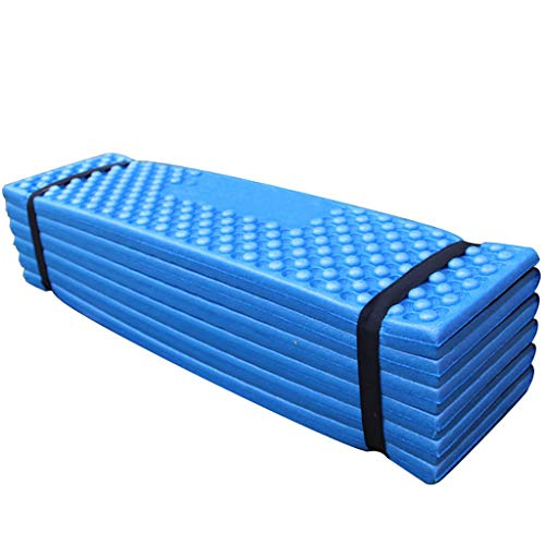 Fine Portable Lightweight Mini Waterproof Folding Mat, Hiking Outdoor Cushions, Camping Mat,Foldable Kneeling and Seat Cushion Sleeping Pad for Comfort Foam Cushions Moisture-Proof (Blue) (Thermarest Seat Z)