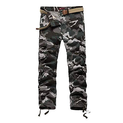 Hommes Pour Pantalons Printemps Loose Long Extérieure Camo Multi Uniforme Casual Automne Pocket Blau WTxnOxAg