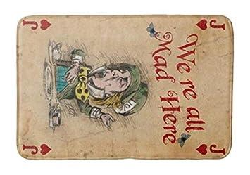 Alice In Wonderland Tea Party Cheshire Cat Door Mat Floor Rug Home Decor