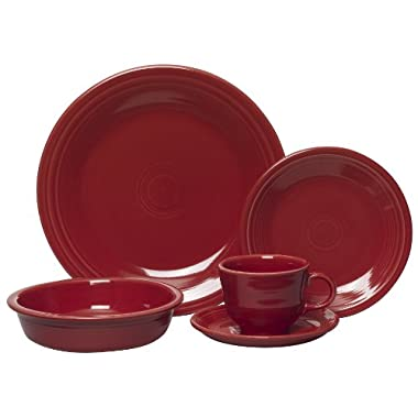Fiesta 5-Piece Place Setting, Scarlet