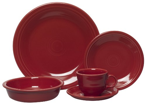 Fiesta 5-Piece Place Setting, - Dinner Setting Piece Five