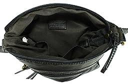 Scarleton Trendy Multi Zip Crossbody Bag H193301 - Black