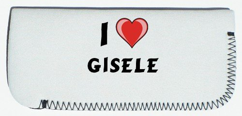 first name//surname//nickname Glasses Case with I Love Gisele
