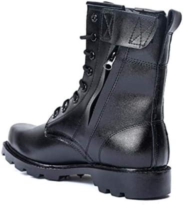 軍事戦術ブーツスエードは暖かいハイヘルプレースアップスタイルジャングルブーツ快適な滑り止め耐摩耗ラバーソールをキープ (色 : 黒, サイズ : 26.5 CM)