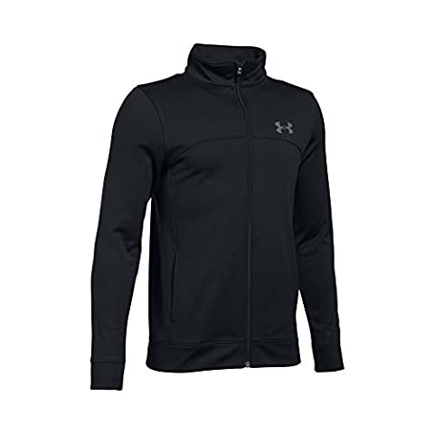 Under Armour Boys' Pennant Warm Up Jacket, Black/Graphite, Youth
