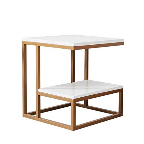 Amazon.com: L-Life - Mesa auxiliar cuadrada de metal, mesa ...