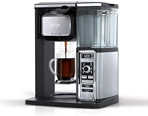 SharkNinja CF092 PowerDoF CM6626T 12-Cup Glass Carafe Programmable Coffee Maker, Small, Black/Stainless Steel