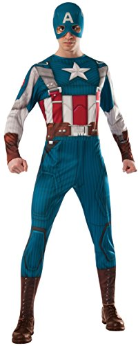 Marvel Rubie's Universe Captain America Costume, Multicolor, X-Large Costume